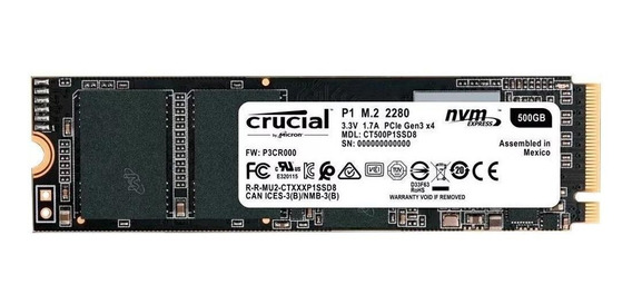 Disco sólido interno Crucial P1 CT500P1SSD8 500GB