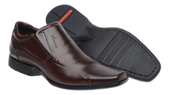 Sapato Social Masculino Couro Macio Anti Estresse Diabético