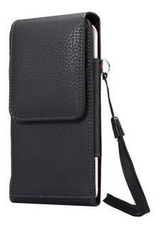 Capa Premium Couro Porta Cartão Cinto Galaxy S10 Plus S9+