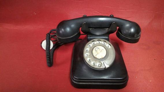 Teléfono Antiguo De Baquelita Con Conector Ref. 250