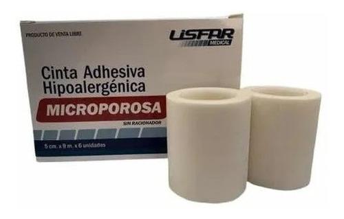 Imagen 1 de 3 de Tela Adhesiva Cinta Microporosa  2,5cm Lisfarm 12 Rollos