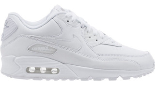 Women Mujer Tenis Nike Air Max 90 Piel White Total Piel
