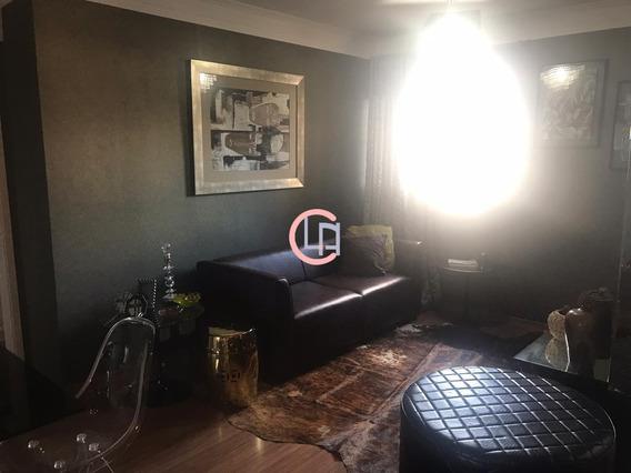 Apartamento Para Aluguel, 2 Vagas, Casa Branca - Santo André/sp - 4483