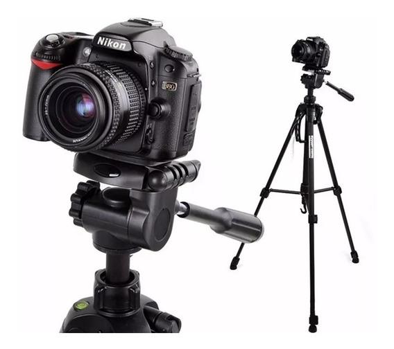Tripé 1.80m P/ Câmera Canon T4 T5 T6 T3i T4i T5i T6i T7i.