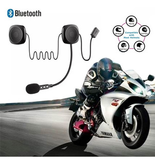 Auricular Bluetooth 4.2 Para Casco Con Micrófono