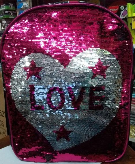 Mochila Con Lentejuelas Reversibles Love 12 Pulg Rey Sancho