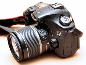 Camera Digital Canon 60d - Lente 18-55 - Bateria-carregador