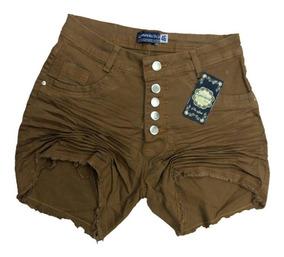 Short Jeans Feminino Plus Size 44/54 Com Botoes