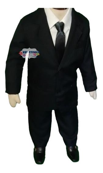 Terno Infantil Conjunto Completo Camisa Calça Paletó Gravata