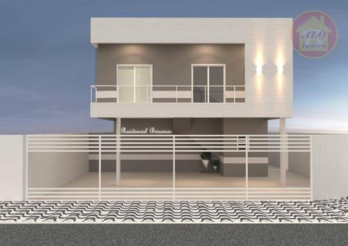 Casa Com 2 Dormitórios À Venda, 42 M² Por R$ 195.000,00 - Maracanã - Praia Grande/sp - Ca1321