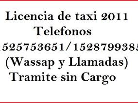 Licencia De Taxi Año 2008 - Taxis Los Hermanos