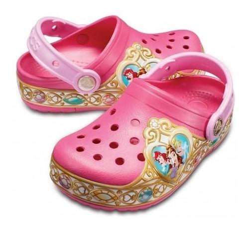 Crocband Niñas Disney Princess Ltsclog K Vibrant Pink