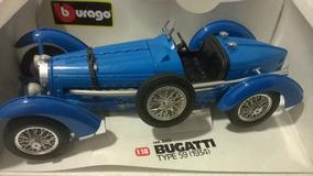 Miniatura 1/18 Burago Bugatti1934 Diamondcolection C.detalhe