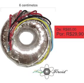 Transf. Toroidal - 115-200-230-240-250v / 12+12v - 0,6+0,6a