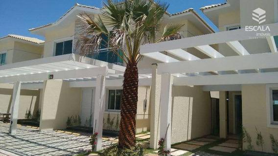 Casa Duplex Com 3 Quartos À Venda, 117 M², Nova, Cond. Fechado, Área De Lazer, Financia - Antônio Diogo - Fortaleza/ce - Ca0089