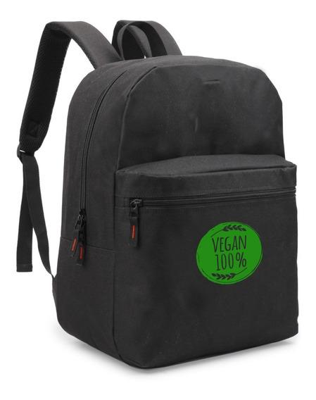 Mochila Vegan100% Vegano Bolsa Material Escolar