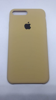 Capa Capinha Silicone Flanelada iPhone 7 Plus Caramelo