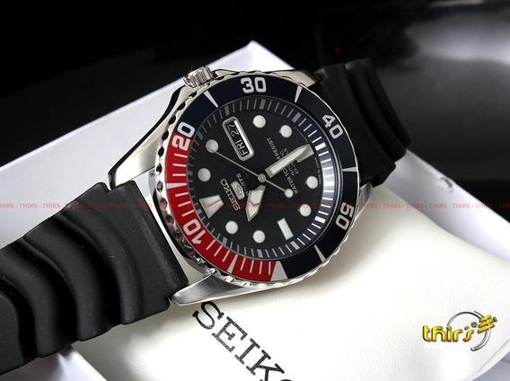 Relógio Seiko 5 Sport Japan Automatico Snzf15j2 Pepsi Origi