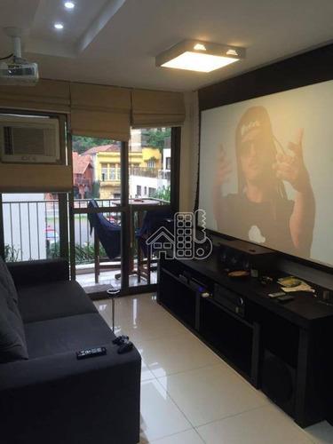 Apartamento Com 2 Dormitórios À Venda, 71 M² Por R$ 550.000,00 - Gragoatá - Niterói/rj - Ap3497