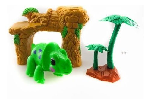 Set Animalitos De Juguete Dinosaurio Y Cueva Simil Playmobil