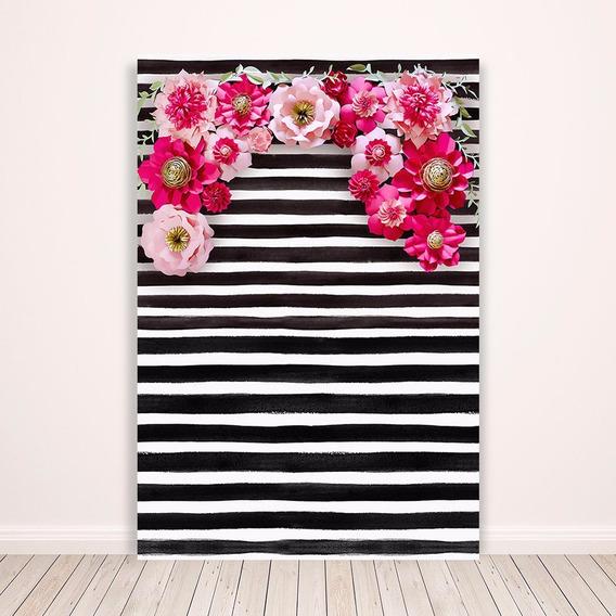 Fundo Fotográfico Tecido Newborn Flores 3d 1,5x2,2m - F3d-25