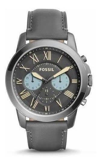 Reloj Fossil Gris De Piel Fs5183