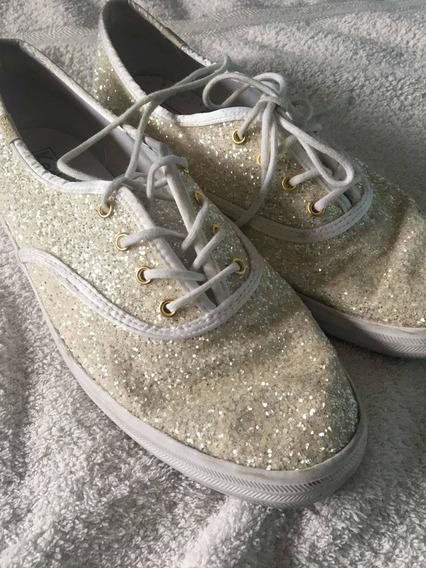 Zapatillas Blancas Glitter Keds