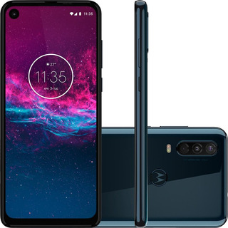 Smartphone Motorola One Action 6.3 128gb Azul - Xt2013-1