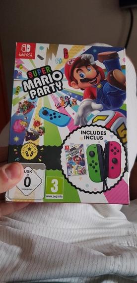 Super Mario Party Para Switch Com Joy Con Verde/rosa Lacrado