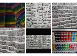100 Pellones + 15 Botes De Pintura De 250 Ml