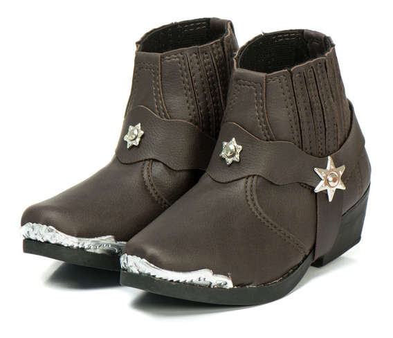 Bota Country Texana Infantil Café Outlet Envio Imediato 12x