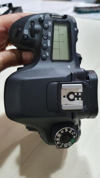 Canon Eos 80d (nova) C/ 5.700 Cliks + 2 Bat + Grip + Cage