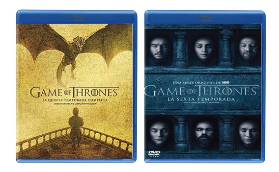 Game Of Thrones Juego Tronos Paquete Temporada 5 Y 6 Blu-ray