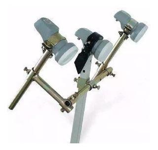 Kit Adaptador Lnb Carona 1+2 Antena Satelital 100% Metalico