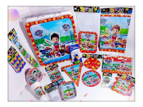 Kit Decoración Infantil Paw Patrol 12 Invitados + Obsequio