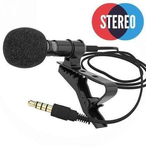 Microfone Lapela Para Celular Camera Pc Com Fio Youtuber