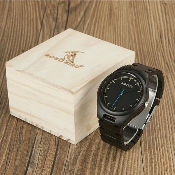 Promoção Relógio Bobo Bird Original Madeira Masculino Estojo