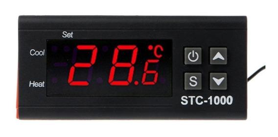 Termostato Controlador De Temperatura 10a Bivolt 2 Rele
