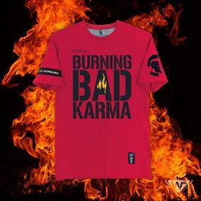 Playera Roja W2 Mod. Quemando El Mal Karma