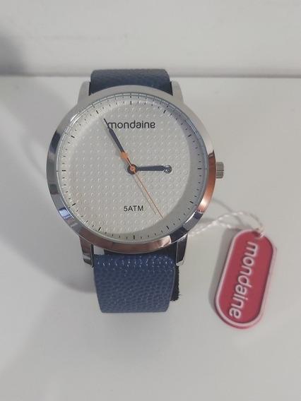 Relógio Analógico Unissex Mondaine Com Calendário Original