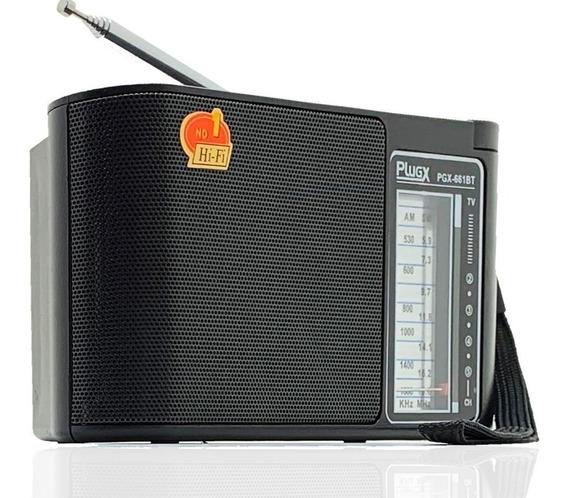 Rádio Retrô Caixinha Som Bluetooth Portátil Usb Am Fm Mp3 P2