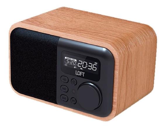 Rádio Relógio Com Bluetooth Retrô - Loft