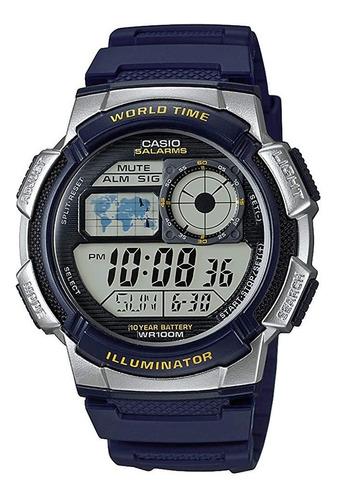 Reloj Hombre Casio Ae-1000w Azul Digital / Lhua Store