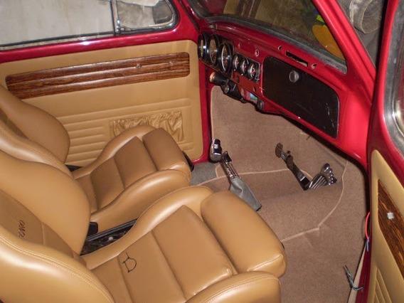 Forração Fusca Luxo Carpete Bege P/ Assoalho Vw Frete Grátis