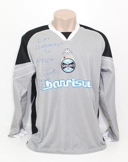 Camisa Original De Jogo Grêmio 2003 Goleiro #12 Autografada