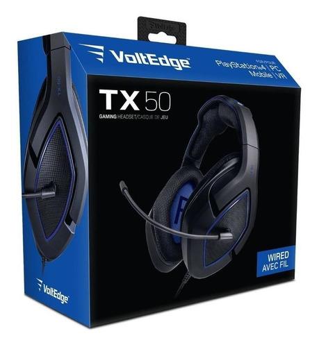 Headset Tx-50 Ps4 Voltedge ( Garantía De Por Vida )