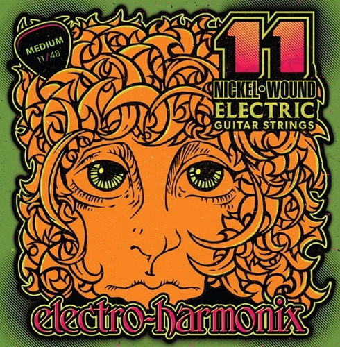 Imagem 1 de 2 de Encordoamento Guitarra 011 Electro Harmonix 11-48 Ehx
