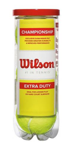 Imagen 1 de 6 de Pelotas De Tenis Wilson Championship - Pelotas Wilson Tenis