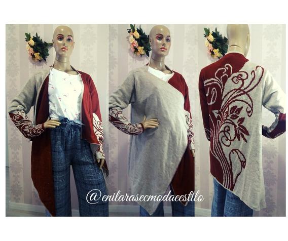 Kimono Cht Étnico Terra/bege Frete Grátis