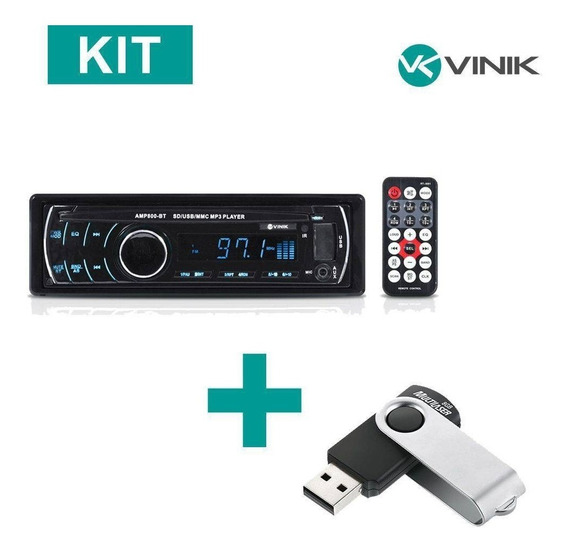 Kit Som Automotivo Auto Rádio Mp3 Player Usb/sd/fm/bluetooth